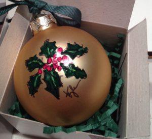 ornament-goldholly
